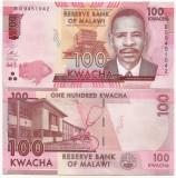 MALAWI 100 KWACHA 2017 UNC [1] P-65c , necirculata