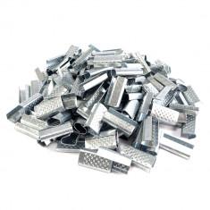 Cleme metalice pentru banda PP 12mm, suprafata embosata, cutie 2000 bucati