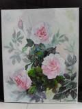 Trandafiri in lumina-pictura ulei pe panza