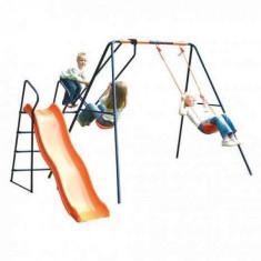 Leagan cu balansoar si tobogan MVS Saturn pentru copii combinate