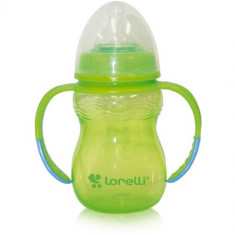 Biberon Anticurgere cu Manere Baby Care 250 ml Green