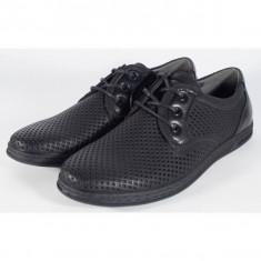 Pantofi pentru barbati/barbatesti, negri de vara perforati (cod 061222)