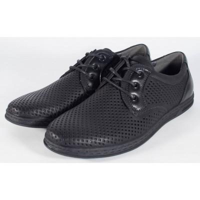 Pantofi negri de vara perforati (cod 061222) foto