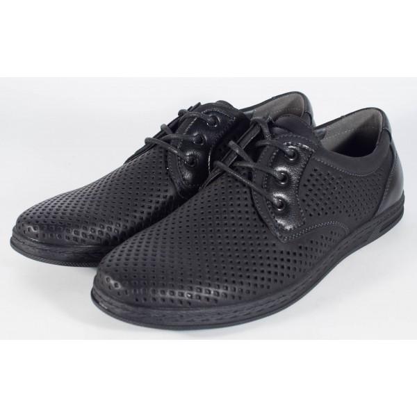 Pantofi negri de vara perforati (cod 061222)