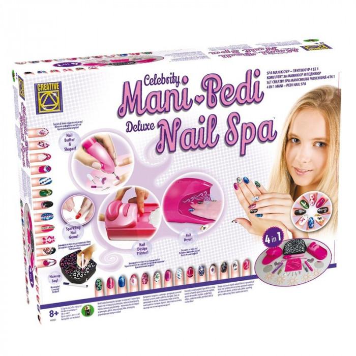Kit manichiura pentru fetite Mani Pedi Nail Spa, 4 x AA, 8 ani+