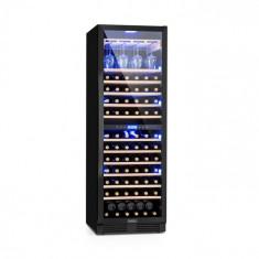 Klarstein Vinovilla Onyx Grande Duo, vinotecă, 425 l, 165 de sticle, 3 culori, neagră