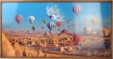 Tablou Cu Ceas Inramat, Heinner, Hr-F732-50/100, 50 X 100 Cm, Baloons