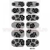 Set 12 tatuaje pentru toata unghia MZ01051 Blossoming Matrix