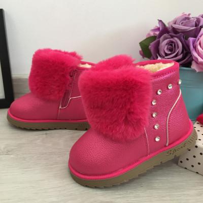 Cizme roz imblanite moi ugg pt copii fetite bebe 23 cod 0726 foto