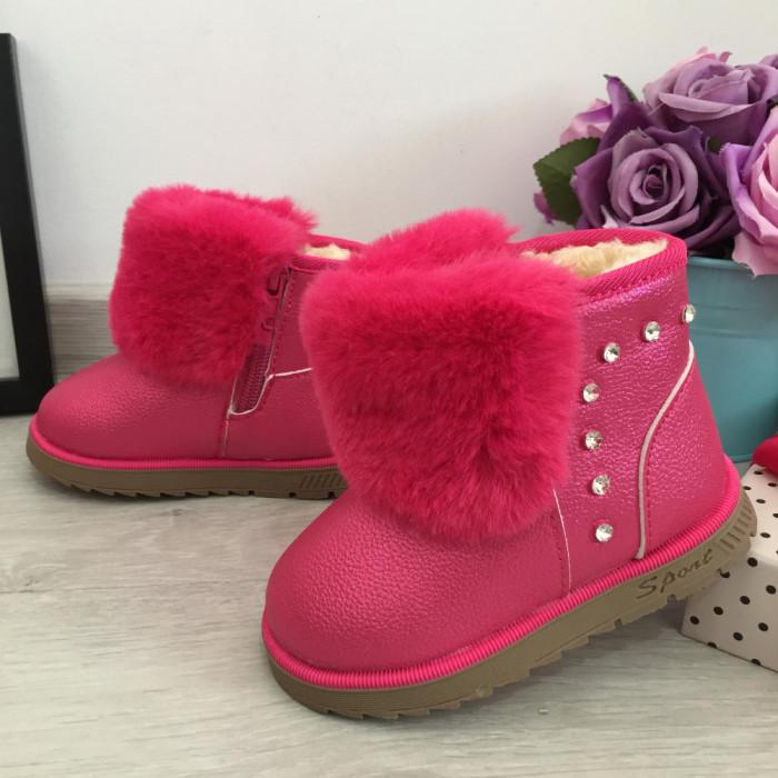 Cizme roz imblanite moi ugg pt copii fetite bebe 23 cod 0726