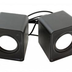 Sistem Mini Boxe 2.0 cu USB ,mini Jack 3,5mm 6w negru