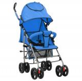 Cumpara ieftin Cărucior/căruț copii pliabil 2-în-1, albastru, oțel