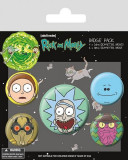Insigna - Rick and Morty Heads | Pyramid International