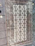 Covor persan manual, matase si lana, 130x200 cm, buhara, folosit, fara defecte