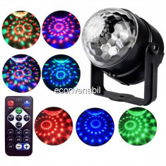 Proiector Lumini Disco cu Telecomanda Led Party Light