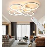 Cumpara ieftin Lustra LED Circle Design Dreptunghiulara 8 Cercuri cu telecomanda