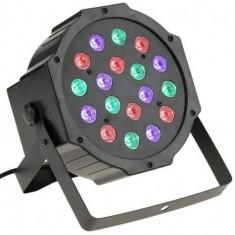 Proiector LED Rio, RGB 18W, DMX512 controller disco, senzor sunet, afisaj LCD