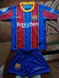 Echipament Barcelona copii 5-14 ani, YL, YM, YS, YXL, YXXL, Tricou + Pantalon