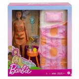 Set papusa Barbie si accesorii pentru dormitor, GRG86