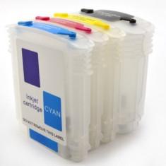 Set 4 cartuse reincarcabile pentru HP940 HP-940 HP Officejet PRO 8500 PRO 8000