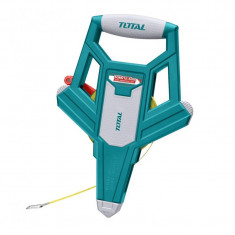 Ruleta Total, lungime 50 m, diametru 12.5 mm, maner ergonomic, Verde