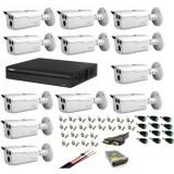 Cumpara ieftin Kit 12 camere supraveghere 2MP HDCVI Dahua + DVR 16 canale Pentabrid Full HD Dahua + Sursa + Cablu + Mufe + Cablu HDMI