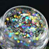 Pigment holografic fulgi PK120 pentru machiaj KAJOL Beauty,