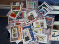PLICURI FILATELICE  25 timbre straine 25 romanesti  plus 2 colita bonus