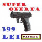 Pistol WALTHER P99 DAO+1000 bile 0,30gr+10 capsule CO2