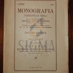 C. S. NICOLAESCU PLOPSOR - MONOGRAFIA JUDETULUI DOLJ ( cu o prefata de Ioan N. Petrescu ) , Craiova, 1944