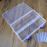 Cutie din Plastic cu 8 Compartimente și Separatoare Detașabile și Încuietoare Albastră (20 x 13.3 x 4.6 cm)