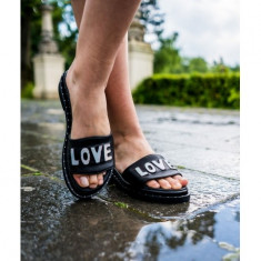 Love Slippers Negru 38