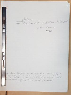 "Manuscris Horia Lovinescu, ""O autobiografie"", 1976 foto"