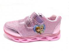 Pantofi sport fete, cu led, Frozen, 22-30 foto