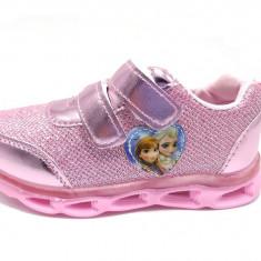 Pantofi sport fete, cu led, Frozen, 22-30