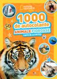 1000 de autocolante. Animale fioroase. Carte de activități