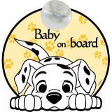 Semn de avertizare Baby on Board 101 Dalmatieni Disney CZ10458 B3103401