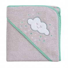 Prosop de baie pentru bebelus si mama grey Clevamama for Your BabyKids