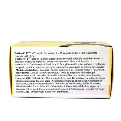 Fertilovit F ENDO, 2 x 45 capsule, Gonadosan foto