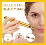 Cumpara ieftin Aparat Masaj Anti-Rid, Energy Beauty Bar, 24K Gold pt riduri cearcane pete