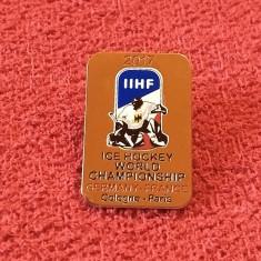 Insigna Hockey - Campionatul Mondial de Hockey pe gheata Franta si Germania 2017