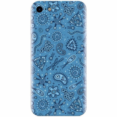 Husa silicon pentru Apple Iphone 6 Plus, Bacteria foto