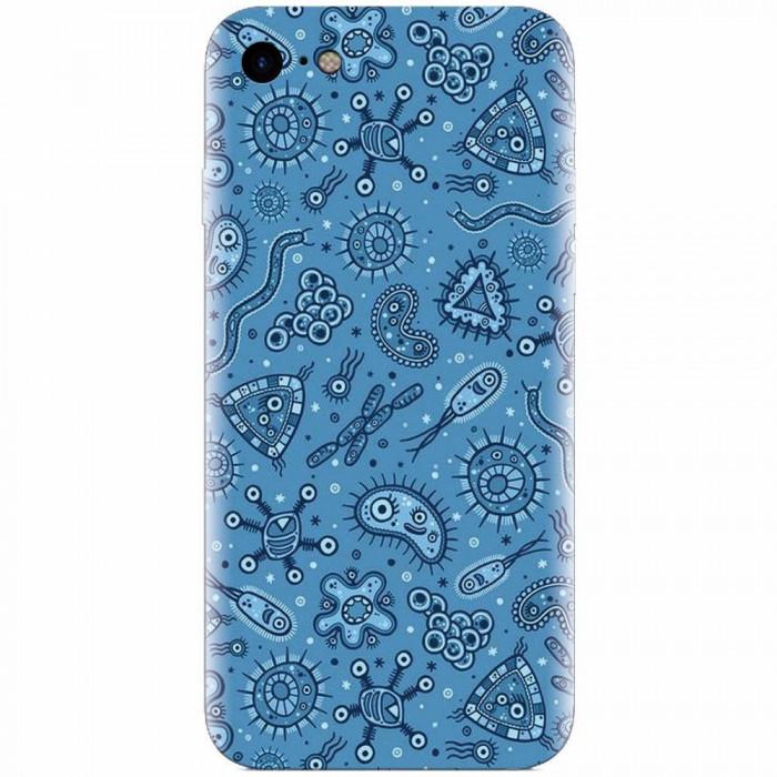 Husa silicon pentru Apple Iphone 6 Plus, Bacteria