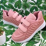 Adidasi roz cu scai usori pantofi sport pt fete 29 31 cod 0745
