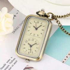 Pandantiv vintage cu doua ceasuri functionale