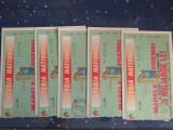 5 bilete loterie, serii consecutive, pe verde
