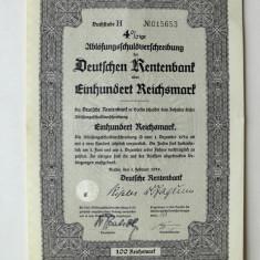 Titlu De Stat Obligatiune Germania 1935-100-Reichsmark