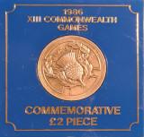 Marea Britanie 2 Lire Pounds 1986 XIII Commonwealth Games, Europa