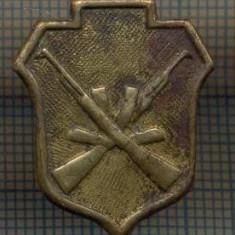 Y 1528 INSIGNA- MILITARA -SEMN DE ARMA -TRUPE DE SECURITATE -PENTRU COLECTIONARI