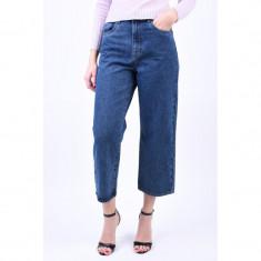 Blugi Drepti Vero Moda Kathy Cropped Blue Denim